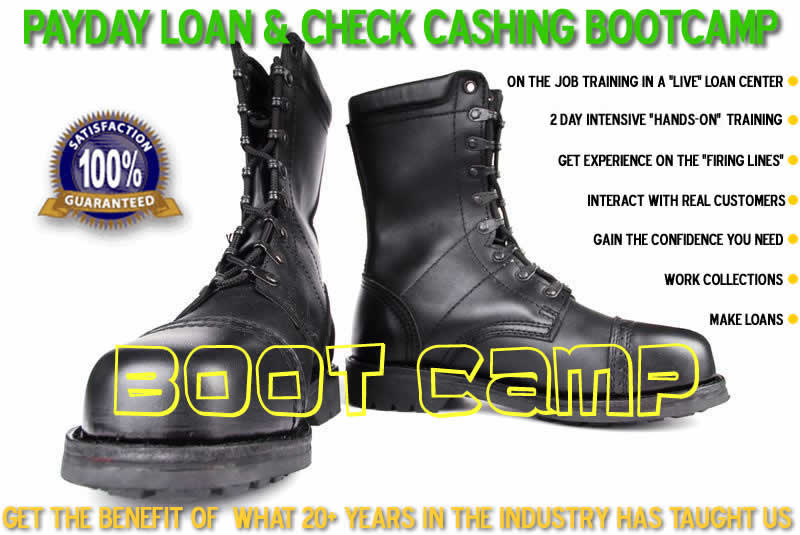 Payday Loan Training and Boot Camp